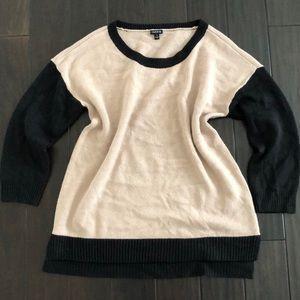 Torrid Brown/Black Long Sleeve Sweater